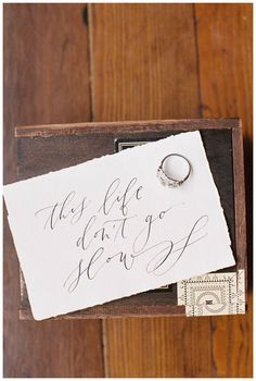 Exquisite modern calligraphy by Script Merchant Calligraphy & Design. Image by Abigail Bobo Photography.