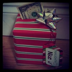 Christmas Money Gift -Kleenex box wrapped in wrapping paper. Tape One's together and put them inside. Then put a bow and name tag on top! Christmas Time Is Here, Christmas Holidays, Christmas Gifts, Xmas, Holiday Decorations, Seasonal Decor, Christmas Projects, Christmas Ideas, Diy Gifts