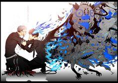 Anime El Exorcista Azul  Ao No Exorcist Rin Okumura Kurikara (Blue Exorcist) Blue Hair Blue Eyes Demonio Shiro Fujimoto Fondo de Pantalla