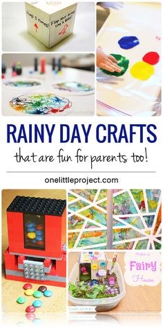 This list of 25 cute rainy day crafts and activities is a great source of fun ideas! And the best part is that they're actually fun for grown ups too!
