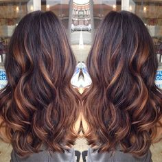 Golden caramel balayage on her dark brown hair . I want to try the balayage method of hair color. Hot Hair Colors, Cool Hair Color, Winter Hair Colors, Auburn Hair Dye, Medium Auburn Hair, Indian Hair Color, Dark Auburn Hair Color, Medium Blonde, Ombré Hair