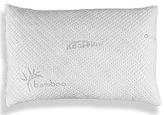 Hypoallergenic Pillow – ADJUSTABLE THICKNESS Bamboo Shredded Memory Foam Pillow Natural Contour, Memory Foam, Coloring Books, Bed Pillows, Bamboo, Top, Cleaning, Bedroom, Floral