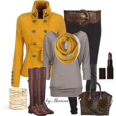 Fall colors for Winter, created by shauna-rogers on Polyvore