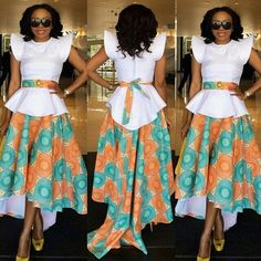 High low ankara dress ~Latest African Fashion, African Prints, African fashion styles, African clothing, Nigerian style, Ghanaian fashion, African women dresses, African Bags, African shoes, Kitenge, Gele, Nigerian fashion, Ankara, Aso okè, Kenté, brocade. ~DK