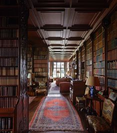 The library at Madresfield containing over 8000 books was designed by CR Ashbee between 1902-1905.