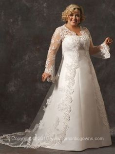 Omg i soooo want this! 7011 Plus Size Wedding Gown - Wedding Dress Beautiful Wedding Gowns, Dream Wedding Dresses, Bridal Dresses, Beautiful Dresses, Bridesmaid Dresses, Pretty Dresses, Plus Size Brides, Plus Size Wedding Gowns, Curvy Bride