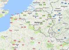 De Groene Valleien route - Europafietsers   LF Route Overzicht Vlaanderen   LF-Fietsen   Grote Routepaden