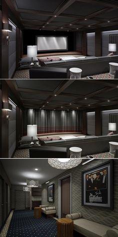 Luxury Home Cinema Interior Design by Clark Gaynor Interiors