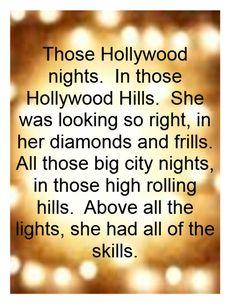 Bob Seger - Hollywood Nights song lyrics music lyrics