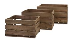 IMAX Home 86500-3 Ainsley Wood Crates - Set of 3 Home Decor Accents Boxes and Baskets