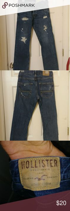Hollister Mens Jeans Pre washed ripped Hollister jeans.Size 29W 30L. Hollister Jeans Bootcut