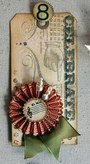 Very pretty Vintage Tag from the Blog of Lynn Warner