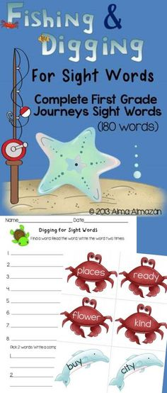 A teacher friend of mine in 1st grade asked if I can make a pack for her students to practice the sight words in the Journeys reading books. So this is what I created for her. I hope that others can use this too :) This pack contains all the sight words used in the 1st grade Journeys books. All 180 words are included. -Alma Almazan