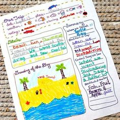 Travel Journal Printable ~ perfect for the kiddos to record their travel experiences and to be able to keep them for safekeeping.  They also will learn and retain more, about the places they visited, if they document their sights and activities!  :) dwb