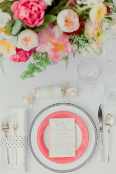 Coral and Citrus Summer Wedding Ideas on Grey Likes Weddings