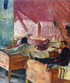 "La enfermería de Helgelandsmoen (""The Infirmary at Helgelandsmoen""). Edvard Munch. 1884. Localización: Museo Munch (Oslo). https://painthealth.wordpress.com/2016/09/30/la-enfermeria-de-helgelandsmoen/"