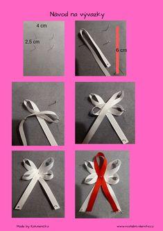 Fotonávod na výrobu svatebních vývazků #svatebni_vyvazky, #vyvazky, #DIY Corsage Wedding, Wedding Bows, Diy Wedding, Dream Wedding, Wings Drawing, Crafts Beautiful, Fabric Bows, Diy Ribbon, Stamping Up