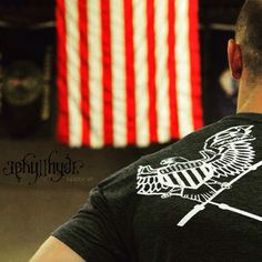 Barbells and freedom. Happy 4th of July!   www.jekyllhydeapparel.com