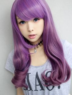 60-75cm    Purple+berry+mix+wig  One+size    Very+cute!!