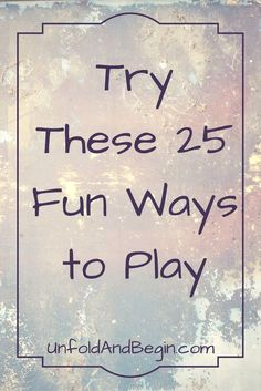 You need to have some fun in order to stimulate your creativity, try these ideas on http://UnfoldAndBegin.com via /https/://www.pinterest.com/UnfoldAndBegin/