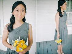 gray bridesmaid dress