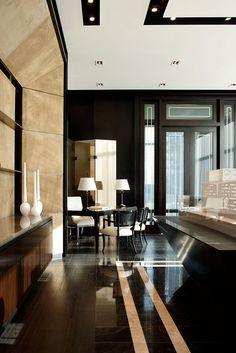 elegant floor distinction in an open space living+ kitchen - Pier 27 | Munge Leung