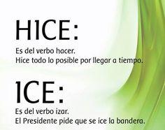 Diferencias entre hice e ice