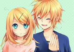 NOOO RIN IN LONG HAIR! N O!  but Len looks beautiful