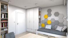 Dom w Przeszowicach - Średni pokój dziecka dla chłopca dla ucznia dla nastolatka, styl nowoczesny - zdjęcie od A2 STUDIO pracownia architektury