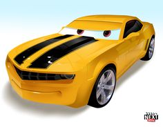 Bumblebee: 7 Famous Movie Cars Redone As Pixar Characters