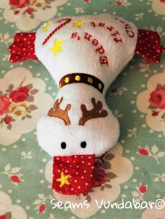 Cute Personalised Reindeer Duckling by SeamsVundabarUK on Etsy