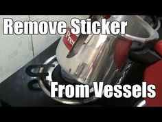 Removing Stickers from Stainless Steel Refrigerator Organization, Organization Hacks, Stainless Steel Utensils, How To Remove Adhesive, Easy Indian Recipes, Sticker Removal, Strongest Glue, Price Sticker, Gas Stove