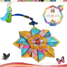 Korean traditional ornaments worn by women-origami for kids