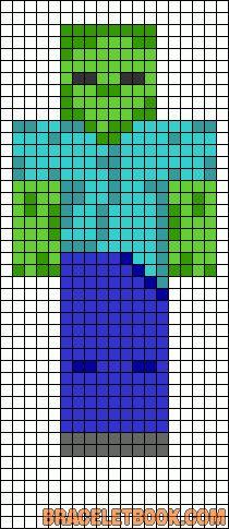 Alpha Friendship Bracelet Pattern #7165 - BraceletBook.com