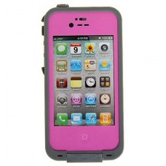 $9.90 Fashion Airtight Tough Protective Waterproof Plastic Case for iPhone 4/4S (Pink)~I think I need this