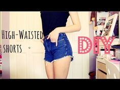 high waisted shorts tutorial - GettingPretty