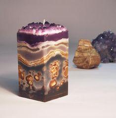 Tea Light Candles, Pillar Candles, Tea Lights, Custom Candles, Handmade Candles, Louisiana, Amber Crystal, Amethyst Crystal, Aromatherapy Candles