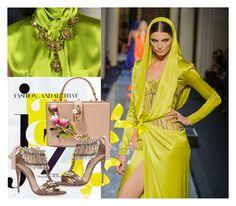 """Bez naslova #138"" by rilner ❤ liked on Polyvore featuring Chanel, Versace, Oscar de la Renta, Casadei and Dolce&Gabbana"