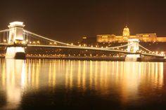 Chain Bridge and Buda Castle -- #Hungary #Europe #capital #travel #Danube #Budapest #trip