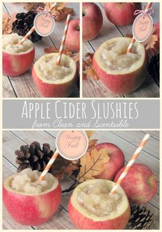 Apple Cider Slushies - Clean and Scentsible
