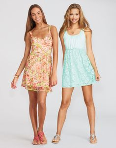 Summer Dresses at dELiA*s. I ordered the dress on the right about a month ago! still havent gotten it.. plus another pair of sandals:P