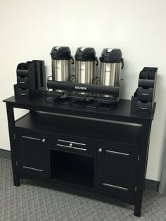 Coffee Bar Set Up With Bunn Airpots In The Rack Organizers Plan