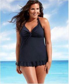 Cute Black Plus size swimsuit