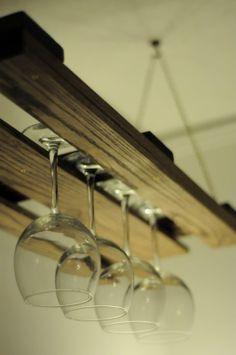 pallet wine glass holder