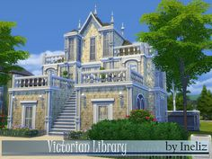 A wonderful building, designed in Victorian finest traditions and tturned into a library, for your sims to enjoy quiet learning process. Happe simming! Found in TSR Category 'Sims 4 Community Lots'