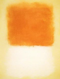 Mark Rothko, Untitled (Orange over white)
