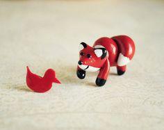 Cute fox earrings ear studs fake gauges  woodland by Rozibuz, $30.00