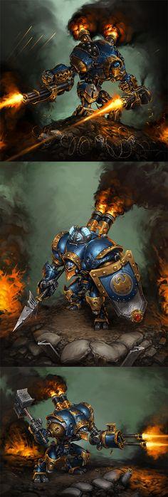 Cygnar: Warjacks I by *Mr--Jack on deviantART