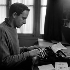 """"""" This history is true since I invented it. """"~ Boris Vian, poet and novelist *Typewriter Workshop Writers And Poets, Writers Write, Boris Vian, Business Correspondence, Great Thinkers, Room Of One's Own, Book Writer, Working People, Playwright"""