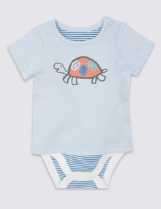 This bodysuit is perfect for your little one- they're soft and comfortable all day long. Pure cotton makes it especially gentle on the skin.